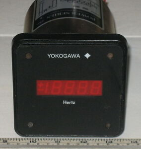 Yokogawa Power Seriers Digital Panel Mount Hertz Meter Model 249183 1 afa 1