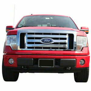 Chrome Grille Overlay factory style 2009 2012 For Ford F 150