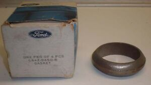 Nos Oe Ford Steel Exhaust Donut Gasket Galaxie Mustang Thunderbird 351 390 428