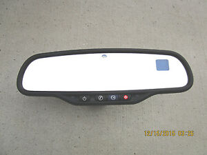07 10 Gmc Yukon Sle Slt Rearview Rear View Mirror Compass Temperature 15269045