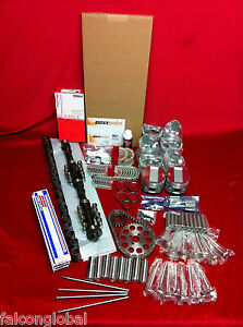 Pontiac 347 Deluxe Engine Kit 1957 Pistons Rings Gaskets Valves Cam Lifters