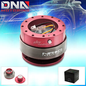 Nrg Gen 2 0 Steering Wheel Quick Release Hub Srk 200pk Pink Body Black Ring