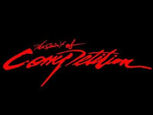 Red The Spirit Of Competition Auto Car Truck Vinyl Graphics Decal Sticker Usa