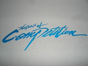 Blue The Spirit of Competition Auto Car Truck Vinyl Graphics Decal Sticker USA $4.99