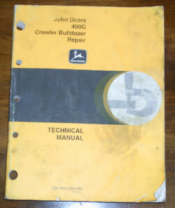 John Deere 400g Crawler Bulldozer Technical Manual Tm1412