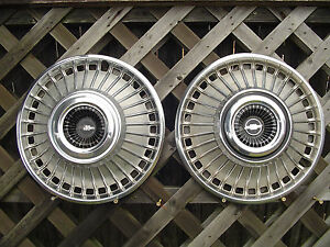 1963 1964 Chevrolet Chevy Belair Impala Hubcaps Wheel Covers Vintage Center Cap