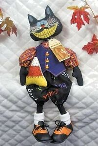Primitive Halloween Grimly The Cool 19 Cat Pattern 86 Ginger Creek Crossing