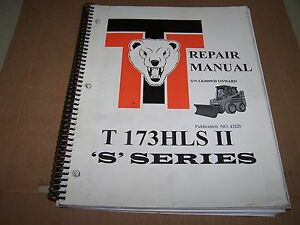 Thomas T173hls Ii S Series Skid Steer Repair Manual S n Lk000930