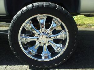 37x13 50r24 Toyo Open Country M T Tires On 24 8 Lug American Racing Rims