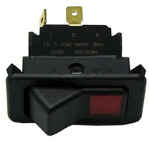 Lighted Rocker Switch Red 20a 125 277v Spst On off 3 Terms Fwe Series Mtu 421248