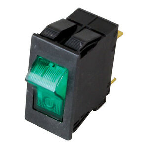 Rocker Switch Green Lighted 16a 240vac For Bakers Pride Oven Bco g Co1 e 421865