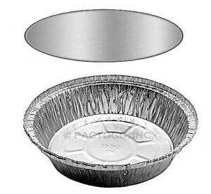 7 Round Aluminum Foil Take out Pan Board Lids 100 Sets disposable Containers