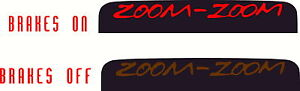 Zoom Zoom Third Brakelight Overlay Decal For 07 09 Mazda 3 Hatch Mazdaspeed 3