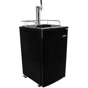 Black Full Size Beer Kegerator Keg Dispenser Cooler Fridge W Co2 Tank