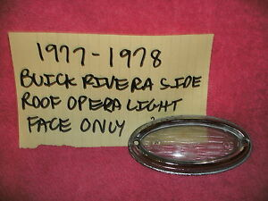 1977 1978 Buick Riviera Genuine Gm Side Opera Light Lens Chrome Bezel Free Shipp