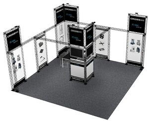 20x20 Trade Show Booth Display Custom Composite Truss Crosswire 20 X 20 20x30