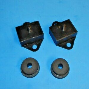New Pair Gearbox Transmission Mount Mounts With Buffer Bushes Mgb 1968 80