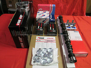 Chevy 302 Master Eng Kit Forged 410 Dome Pistons 1967 Solid Cam Small Journal