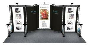 Trade Show Booth Display Custom 10 X 20 Pop Out Banner Stand Inline Crosswir