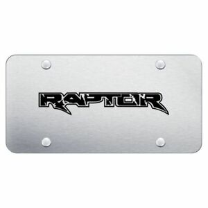 Ford Raptor Brushed Chrome Stainless Steel License Plate