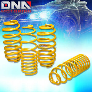 06 12 Vw Golf Rabbit Yellow 1 25 Drop Suspension Lowering Springs Spring 255 245