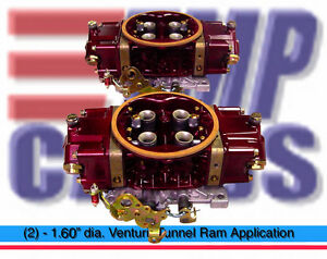 Holley Hp 1000 Cfm Tmp Carbs Double Pumper Hp Tunnel Ram Carb Drag Race Stage 3