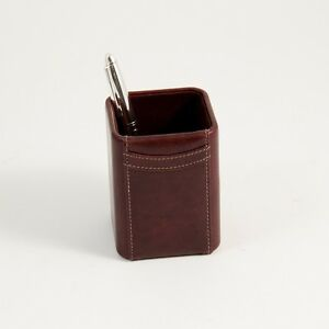 Tan Leather Pencil Cup d1121