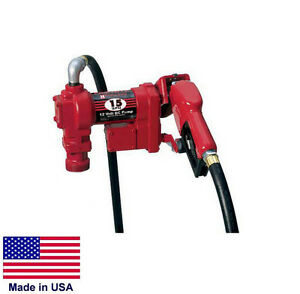 Fuel Transfer Pump Commercial Multiple Fuel Pump With Meter 12v Dc 15 Gpm