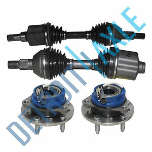 4pc 2 Cv Axle Shafts 2 New Wheel Hubs And Bearing For Chevy Malibu