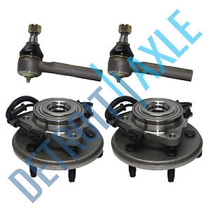 2 Front Wheel Bearing 2 Tie Rod 2002 2003 2004 2005 Ford Explorer Mountaineer