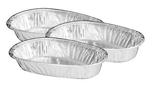 Aluminum Foil Small Baked Potato Shell 50 pk disposable Container Pans Hfa 335