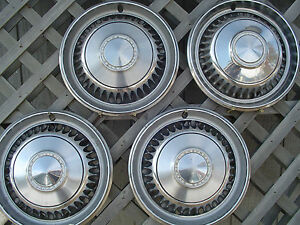 1968 68 Chevy Chevrolet Impala Biscayne Belair Hubcaps Wheel Covers Center Caps