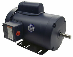 2 Hp 3450 Rpm 56h 115 208 230v Leeson Electric Motor Tefc new free Shipping