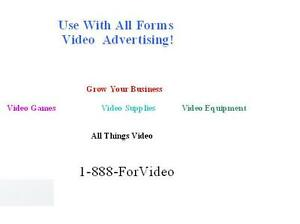 1 888 for video com Domain Name With Toll Free Number