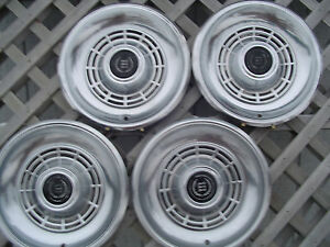 Ford Mercury Cougar Ltd Hubcaps Hub Caps Wheel Covers Center Caps Vintage Fomoco