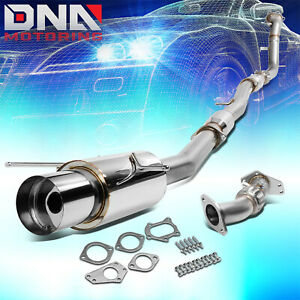 For 02 07 Wrx Sti 4 5 Muffler Tip Turbo Back Catback Up Down Pipe Exhaust System