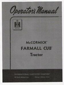 Farmall Cub Operator Parts Maintenance Manuals Lot Of 4 With Free Serial Guide