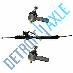 Complete Power Steering Rack Pinion Assembly 2 Outer Tie Rod Ends For Ford