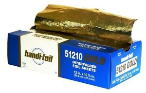 Handi foil 12 X 10 75 Gold Interfolded Aluminum Foil Pop up Sheets 500 pk