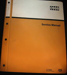 Case 650 Crawler Tractor Service Manual
