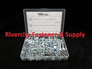 Metric Fine Thread Nut Bolt Hex Head Washer Grade 10 9 Assortment With Tray