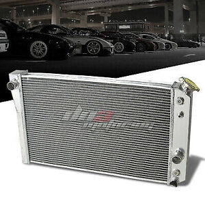 84 90 Chevy Corvette 5 7 L83 S10 V8 3 Row Tri Core Full Aluminum Racing Radiator