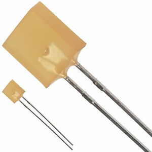 Agilent Hlmp 0401 d0002 2 pin 2 5x7 6mm Diffused Yellow Led 5mcd New Qty 100