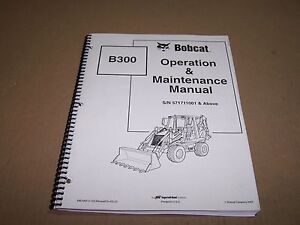 Kubota B300 Loader Backhoe Operator s Manual S n 571711001 Above