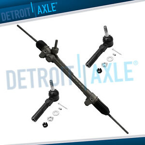 Complete Electronic Steering Rack And Pinion 2 New Outer Tie Rods For Malibu