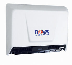 Nova 2 model 0930 By World White Alum Hand Dryer 110v 240v Ada Compliant