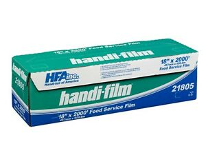 Handi film 18 x2000 Plastic Food Service Film Cling Wrap Roll Hfa 21805