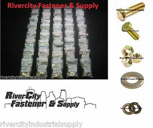 Grade 8 Fine Thread Bolt Nut Washer Assortment 1500 And A Metal 40 Hole Bin