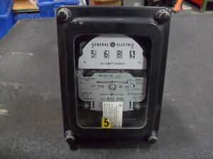 Used General Electric 700x63g895 Polyphase Watthour Meter Ds 63 1920