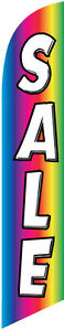 Sale Rainbow Feather Banner Swooper Flag Kit Includes Pole Kit Spike